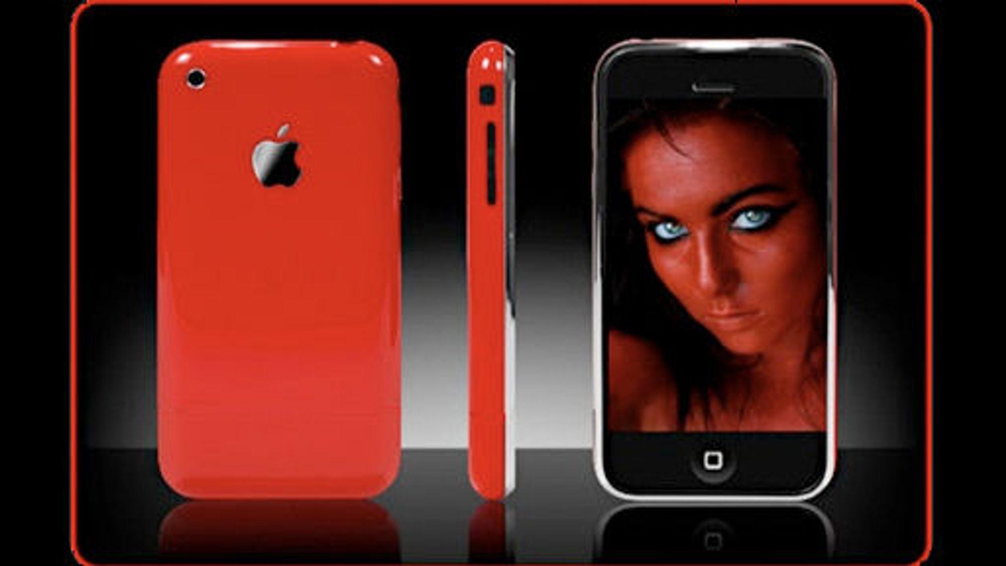 Les En rød Iphone er på vei