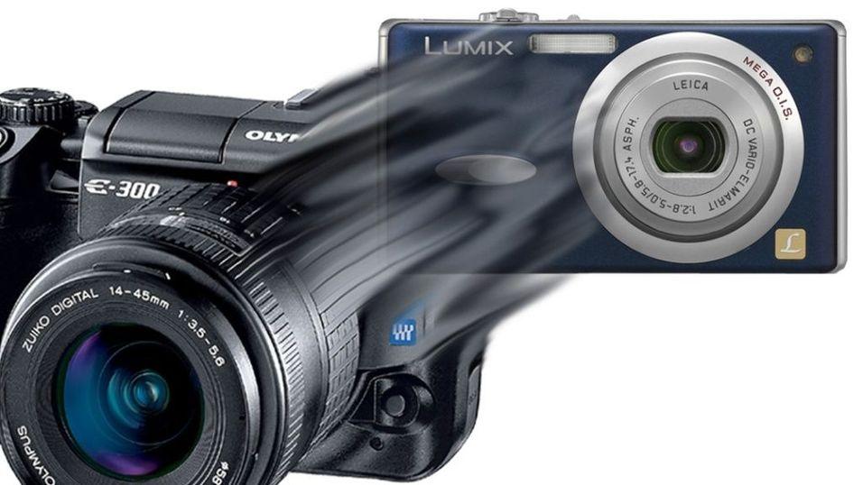 Mini-kamera med speilreflekskvalitet