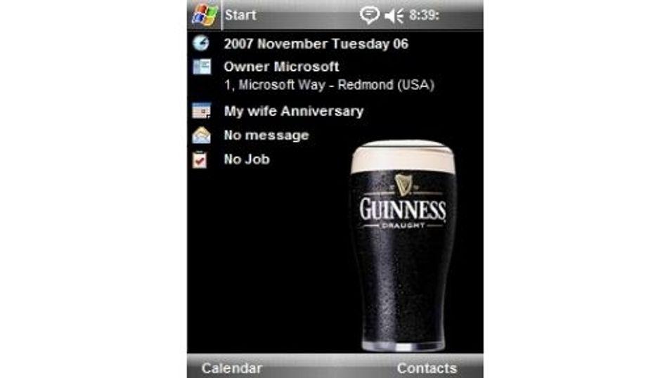 Guinness mobiltema