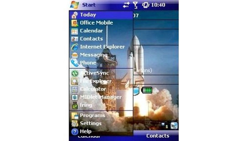 Space Shuttle Launch mobiltema