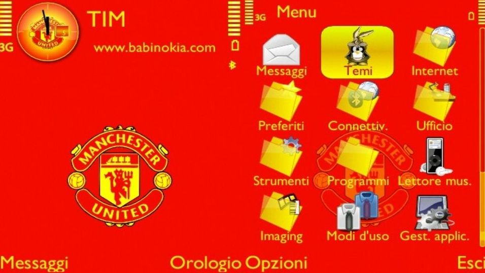 Manchester United mobiltema