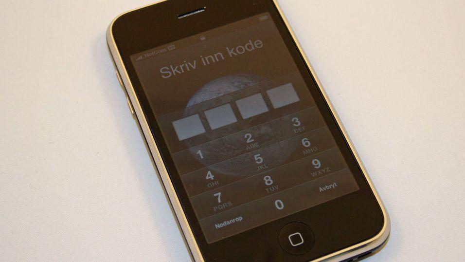 Hull i Iphone-oppdatering