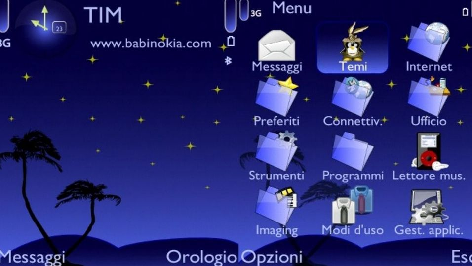 Blue Night mobiltema
