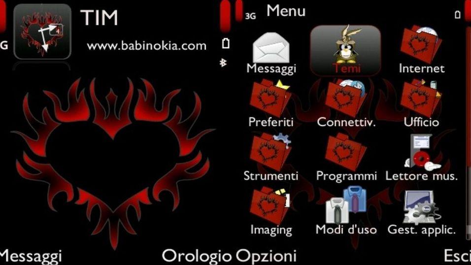 Tribal heart red mobiltema