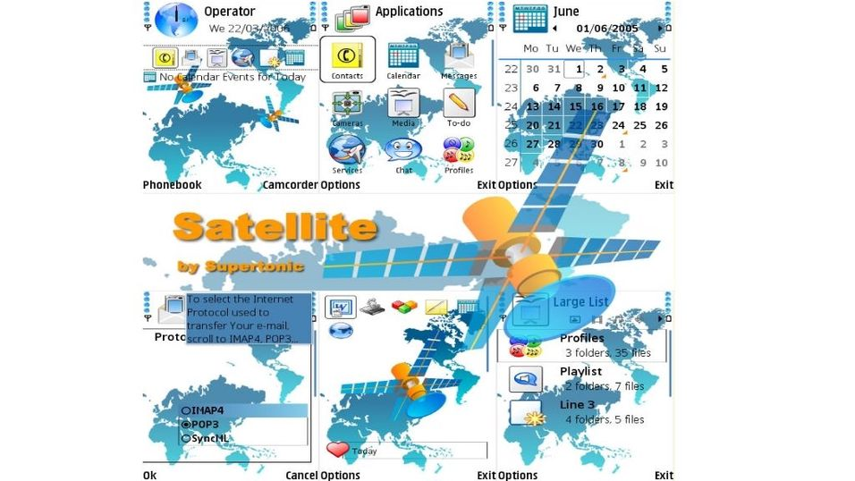 Satellite mobiltema