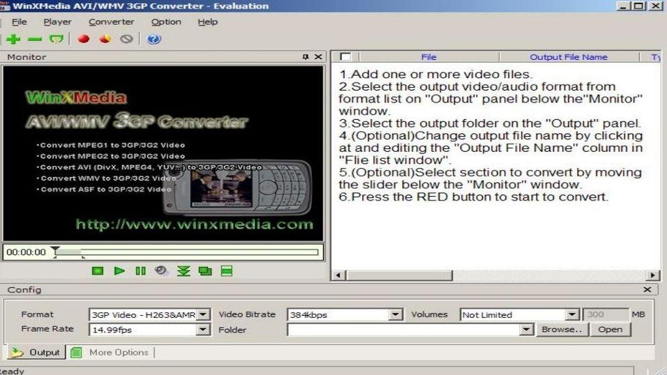 WinXMedia AVI/WMV 3GP Converter 3.15