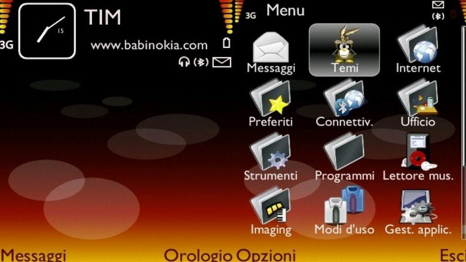 Nokia Fire v2 mobiltema