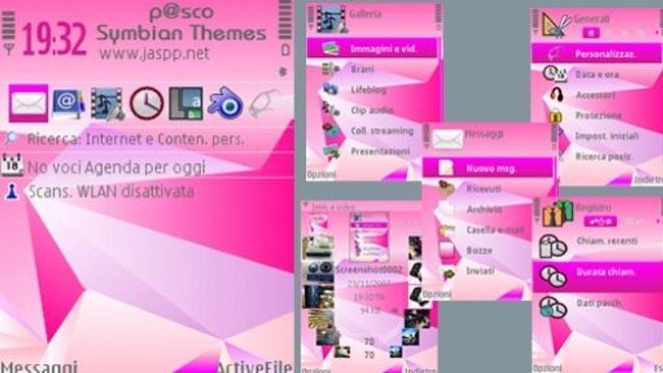 Pink Nseries 4 mobiltema