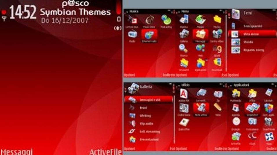 Black And Red mobiltema