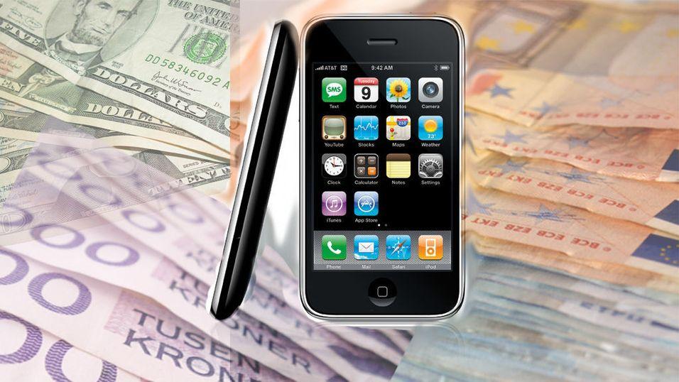 Iphone med valgfritt abonnement