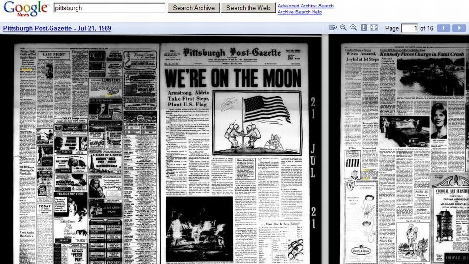 Les gamle nyheter på nett