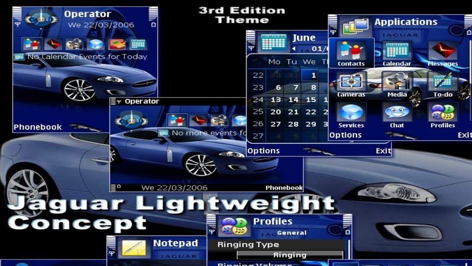 Jaguar Lightweight Concept mobiltema