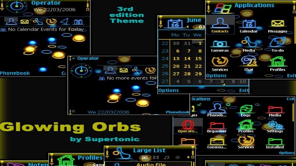 Glowing Orbs mobiltema