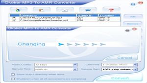Okoker MP3 to AMR Converter 6.0