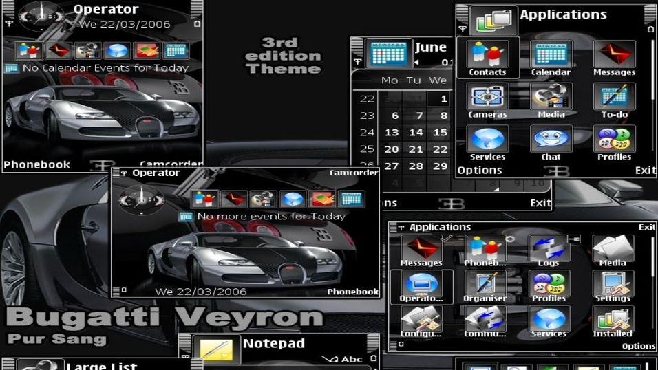 Bugatti Veyron mobiltema