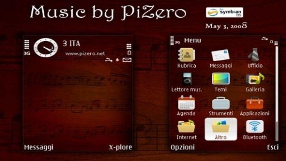 Music mobiltema