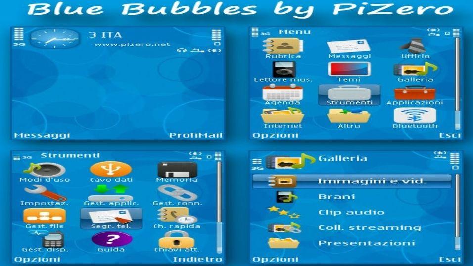 Blue Bubbles mobiltema