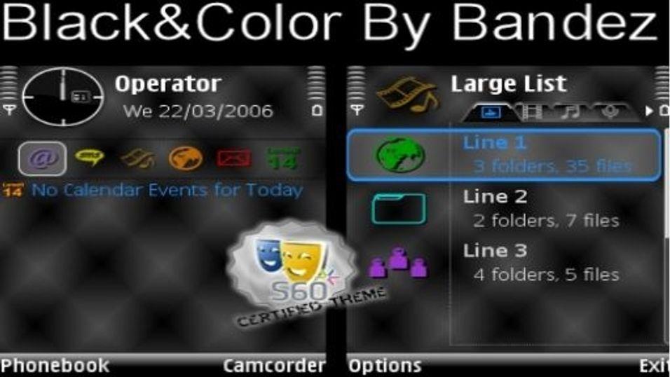 Black & Color mobiltema