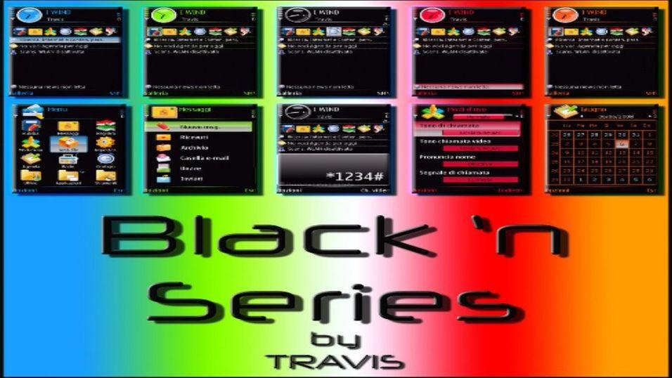 Black'n Series mobiltema