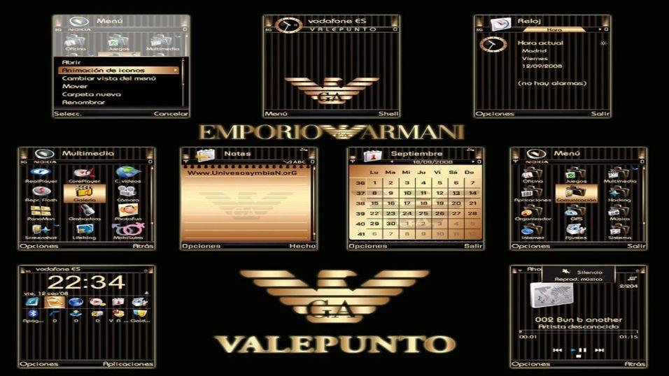 Gold Emporio Armani mobiltema