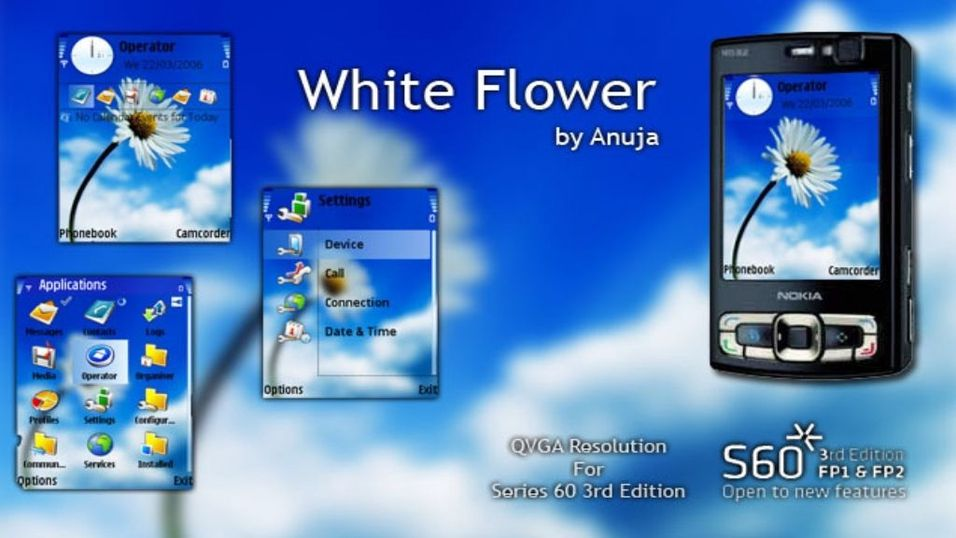 White Flower mobiltema