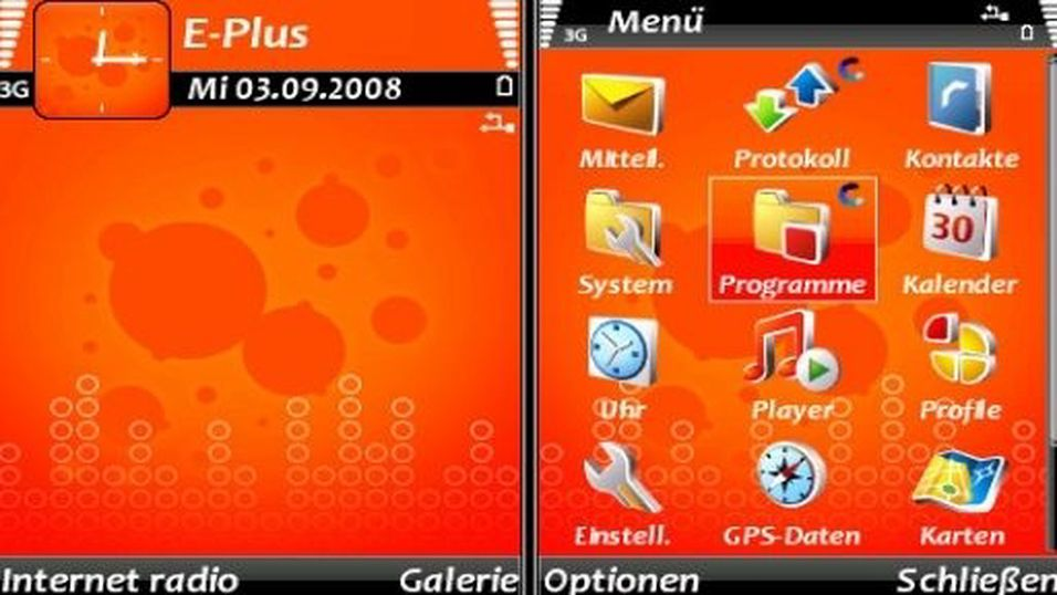 Orange mobiltema