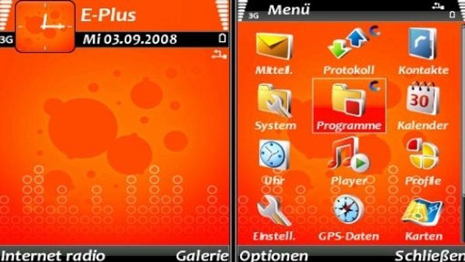 Orange mobiltema