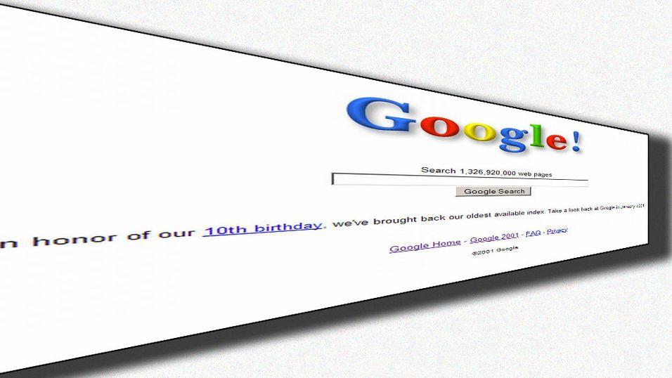 Google tar deg tilbake