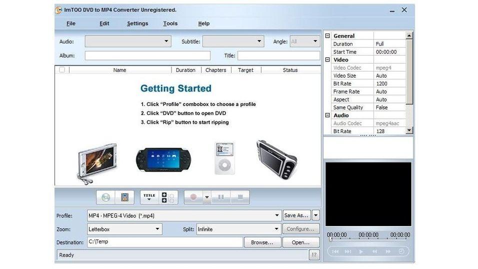 Imtoo DVD to MP4 converter 5.0.44.0925