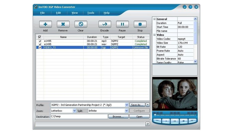Imtoo 3GP video converter 5.1