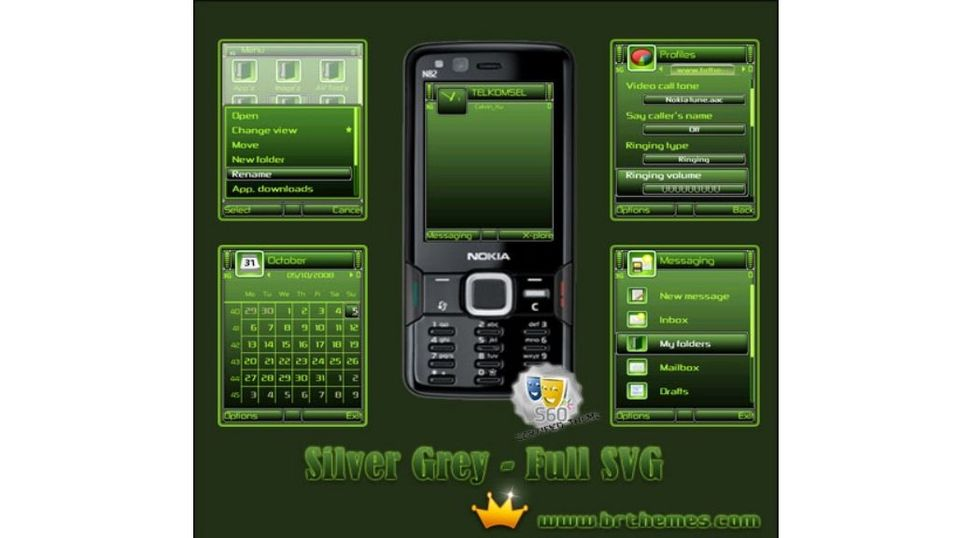 Green Black mobiltema
