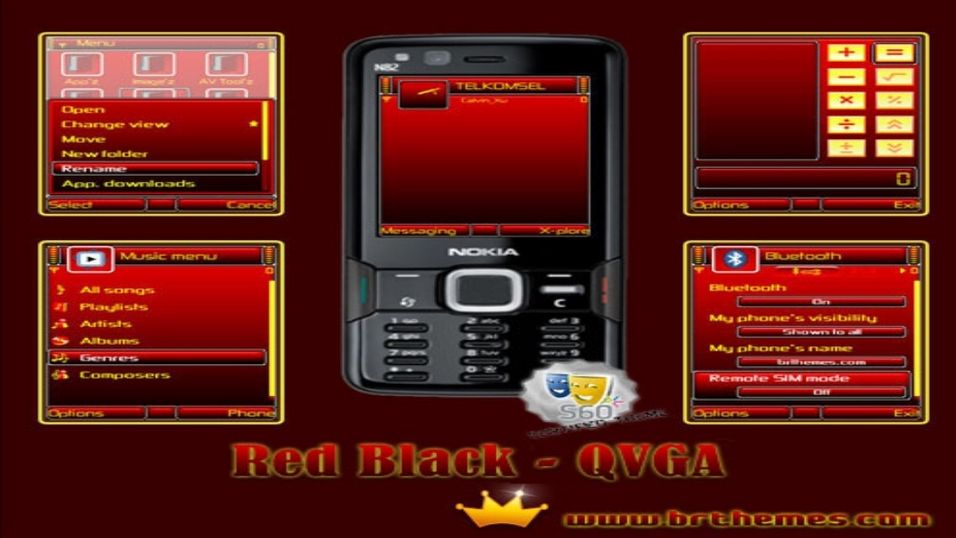 Red Black mobiltema