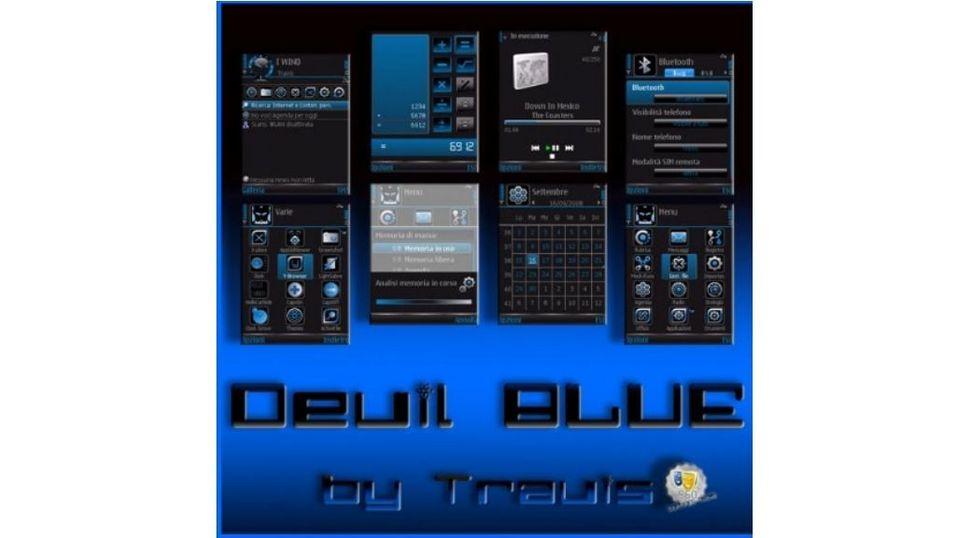 Devil Blue mobiltema