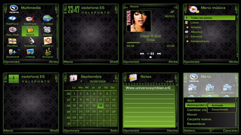 Style Green Black mobiltema