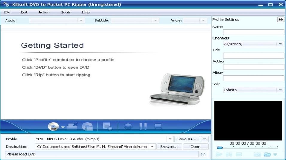 Xilisoft DVD to Pocket PC Ripper 5.0.44.0925