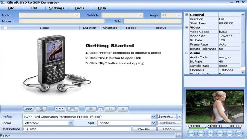 Xilisoft DVD to 3GP Suite 5.0.44.1010