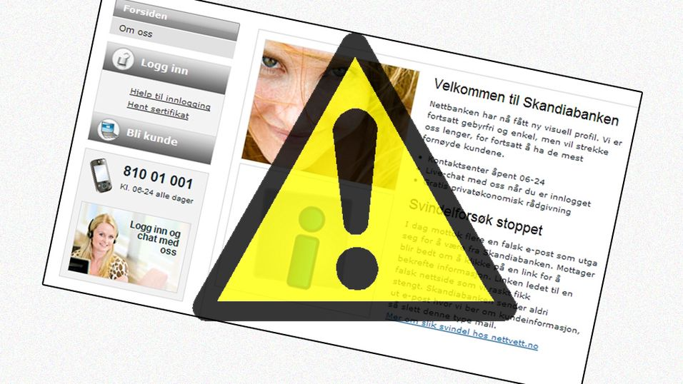Skandiabanken forsøkt svindlet