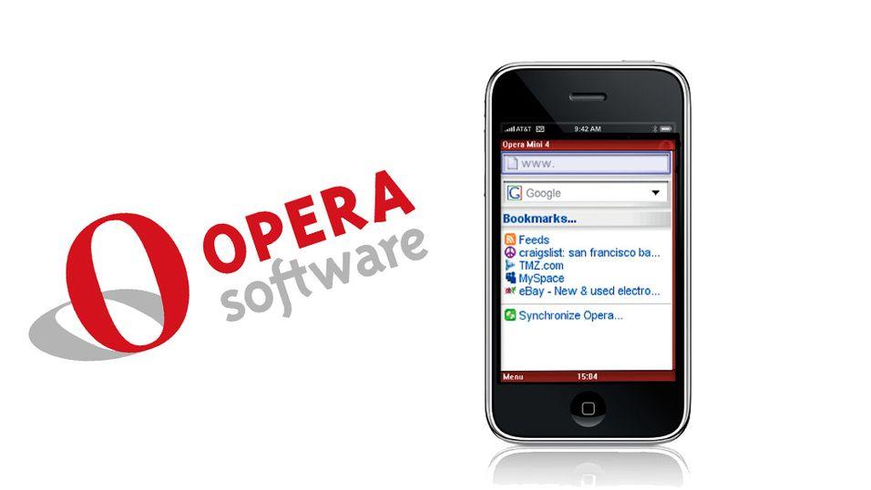 Nektes å bruke Opera på Iphone