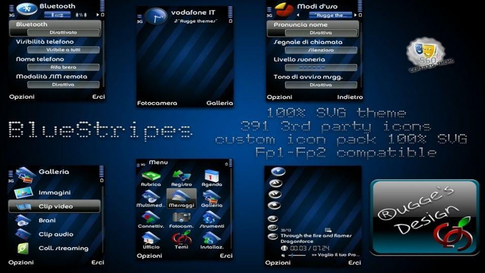 BlueStripes mobiltema