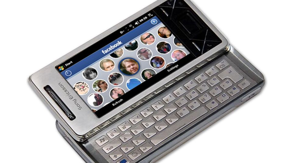 Facebook-panel til Sony Ericsson X1