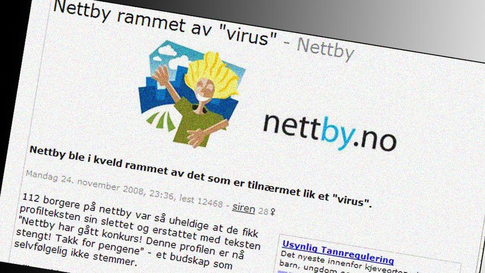 Nettby hacket igjen