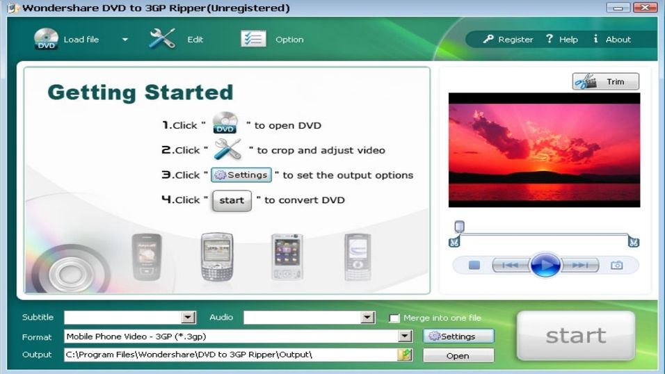 Wondershare DVD to 3GP Ripper (Build 2.3.53)