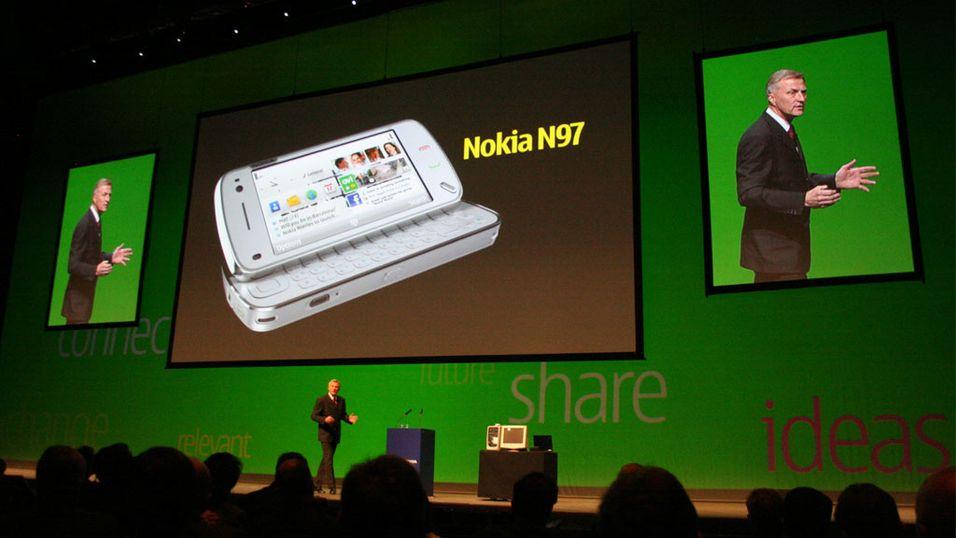 Mobilen prøvekjører Nokias nye toppmodell N97