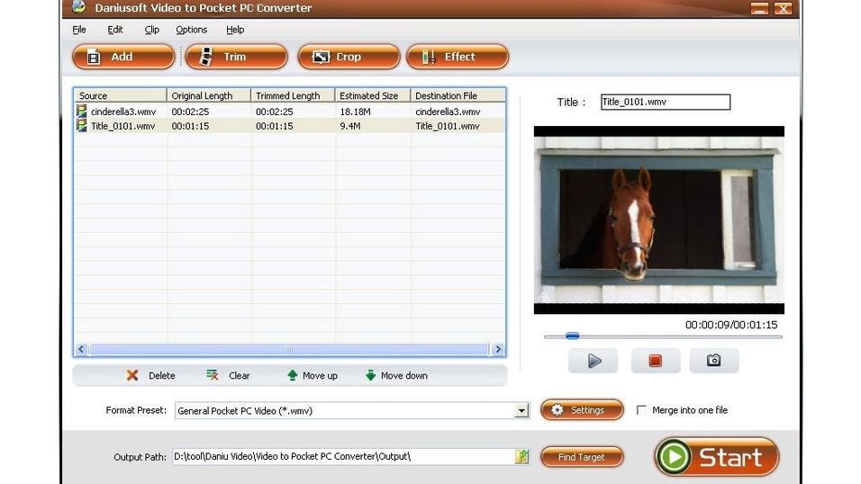 Daniusoft Video to Pocket PC Converter (Build 1.3.35)