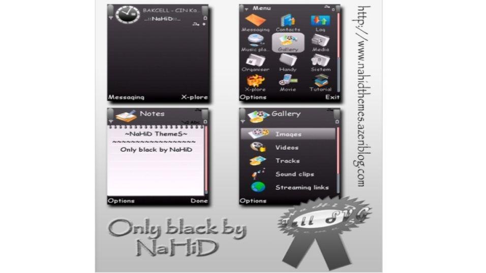 Only black mobiltema