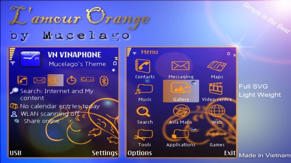 L'amour Orange mobiltema