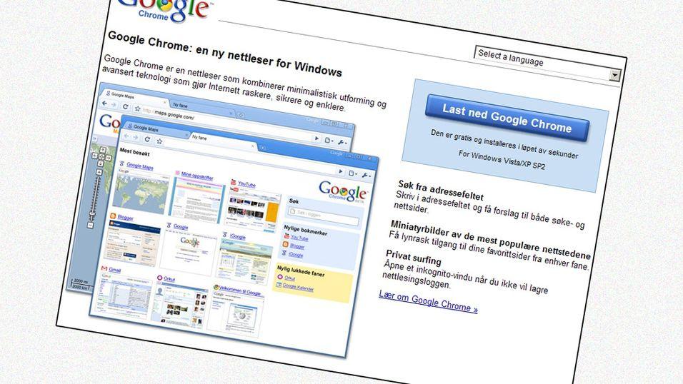 Googles nettleser er ferdig