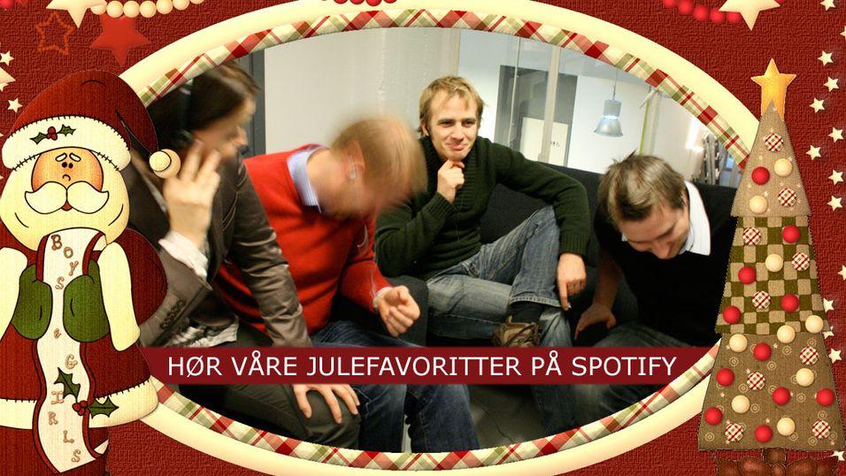 Hør våre julefavoritter på Spotify