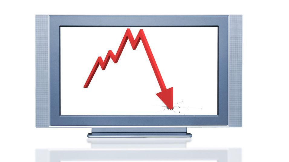 TV-prisene falt kraftig i 2008