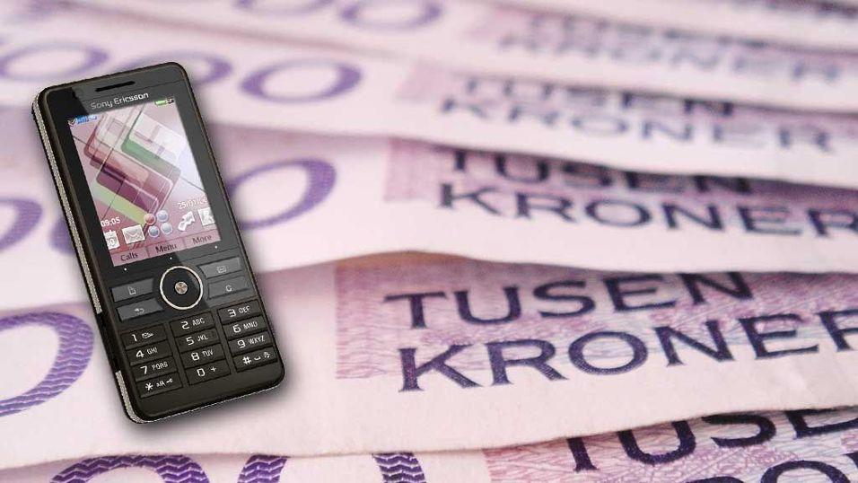 Mobilbruken billigere i fjor